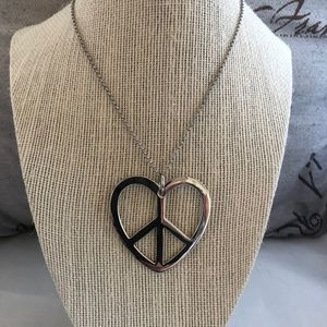 Park Lane Peace Heart Pendant Necklace